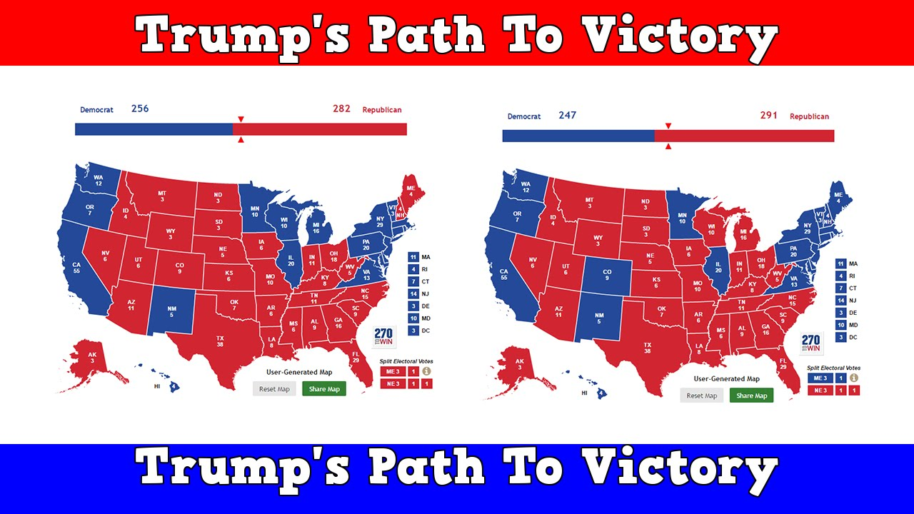 Electoral Map Trumps Path To Victory YouTube - 2016 electoral us map