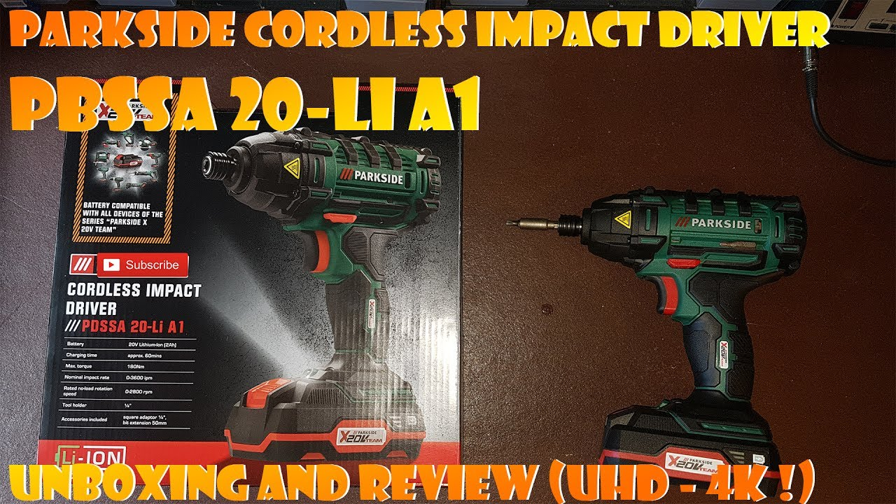 Parkside Cordless Drill Driver With 20v Li Ion Battery