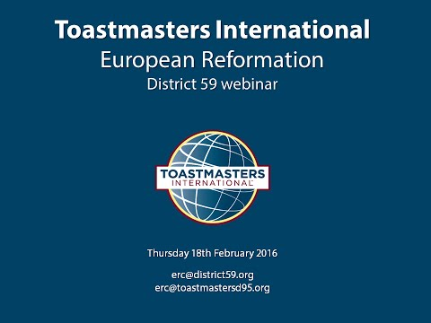 European reformation webinar - District 59