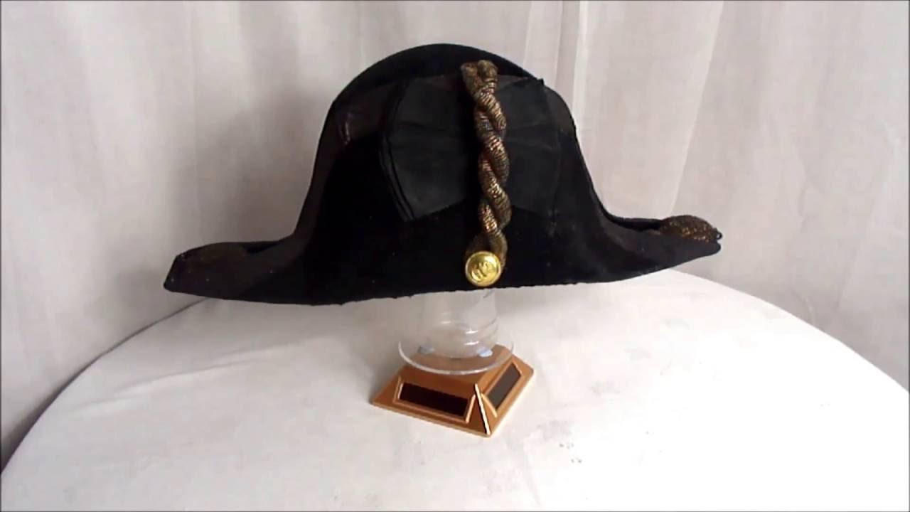 dbc8a9f3e08 A British Naval Bicorn   Cocked   Twi-corn Hat for a British naval officer  Circa WW1