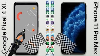 Google Pixel 4 XL vs. iPhone 11 Pro Max Speed Test