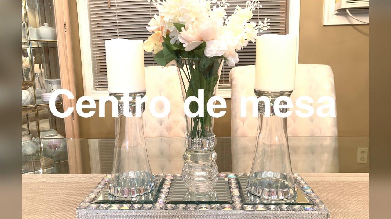Diy Centro De Mesa Elegante Para El Comedor Youtube