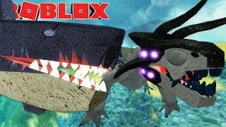 Dinosaur Simulator (Roblox) - Megavore VS. Megalodon, Carnivoros Poderosos! - (#90) (PT-BR)
