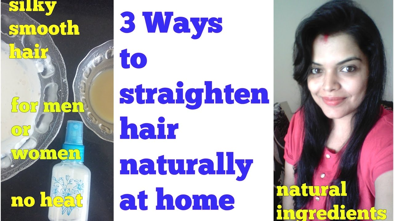 Hair Straightening Naturally At Home Video