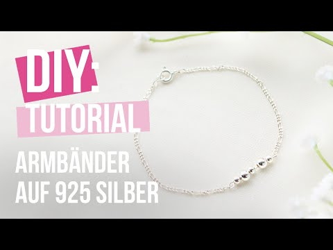 Schmuck machen: Armband aus 925 Silber Ketten ♡ DIY