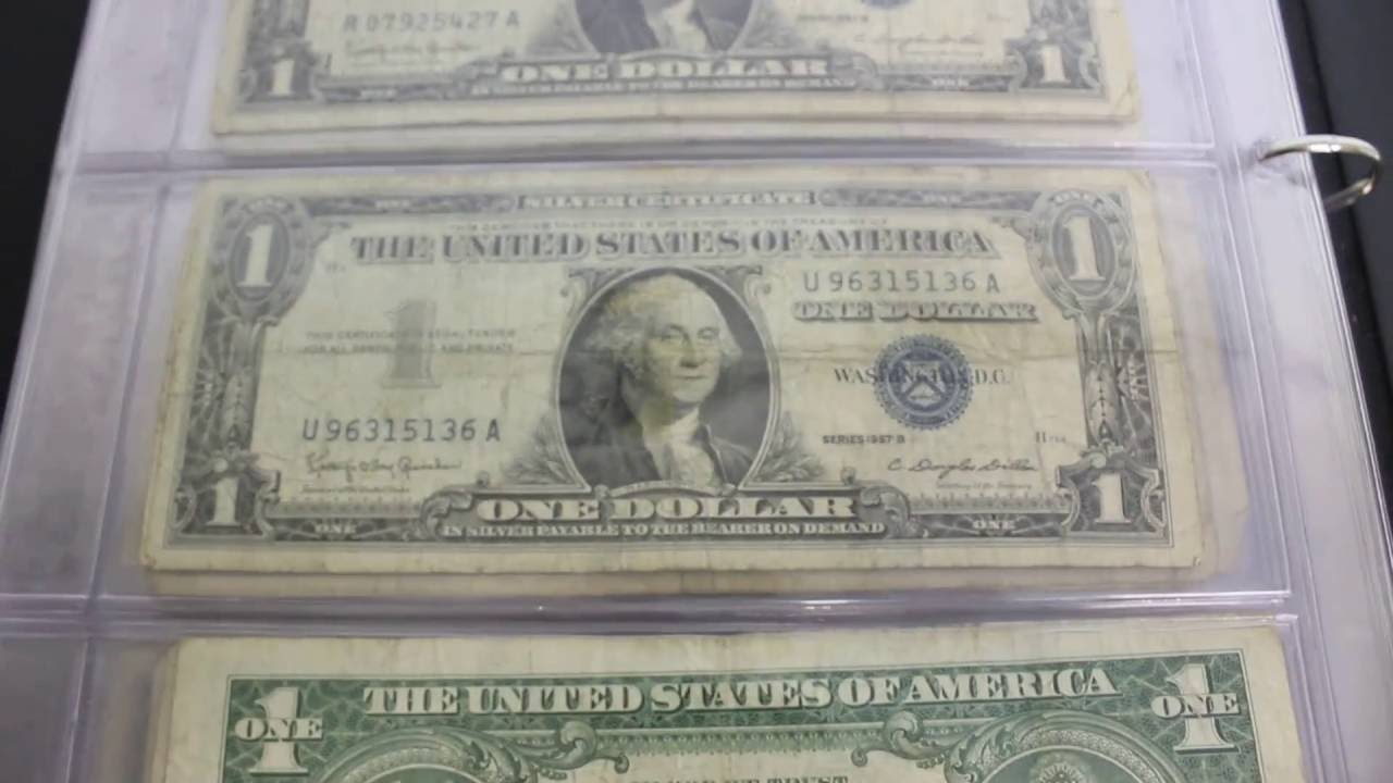 183 1957 Silver Certificates 1957 A 1957 B Series Youtube