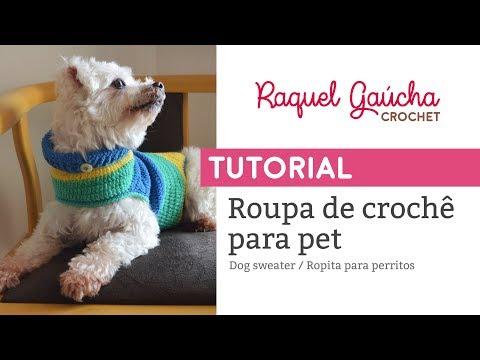 TUTORIAL - ROUPINHA DE CROCHÊ PARA PET