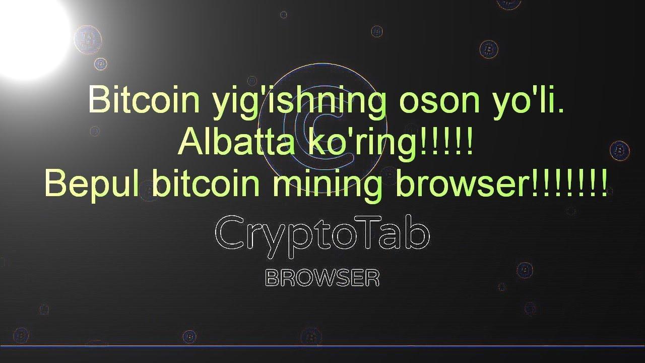 bitcoin mining qilish)