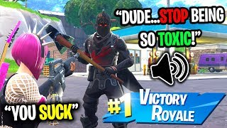 PRETENDING TO BE THE MOST TOXIC KID ON FORTNITE...