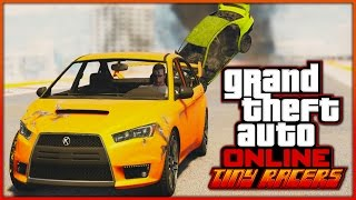 GTA 5 Tiny Racers Funny Moments: TAKE OUT DELIRIOUS & Nogla is Sweaty! (GTA 5 Races)