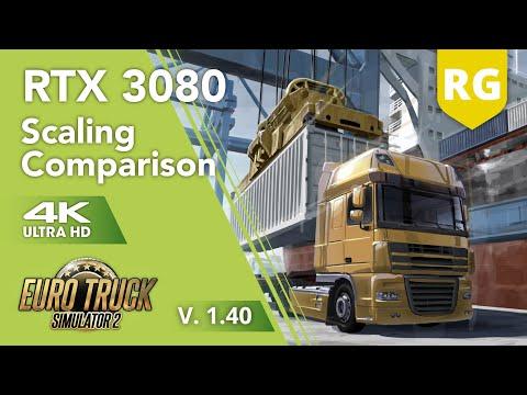 RTX 3080 / I7 10700 / 32GB RAM   4K UHD Euro Truck Simulator 2   Scaling comparison   V. 1.40  