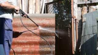 Чистка старого шифера минимойкой Интерскол АМ-120/1500(После демонтажа старого шифера встал вопрос, куда пустить его снова в дело и как отчистить от въевшегося..., 2013-08-04T14:00:20.000Z)