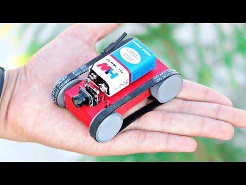 WOW! Amazing DIY idea - Mini Tank with Camera