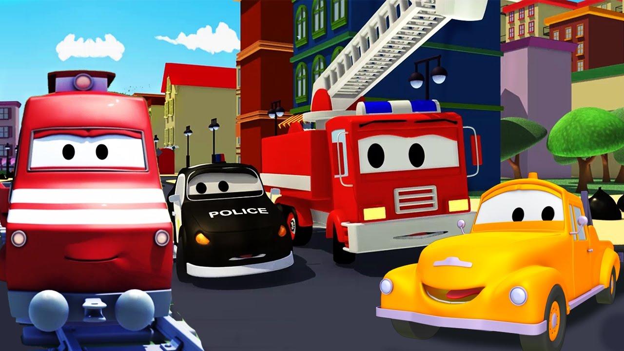 troy o trem e a super patrulha na cidade do carro desenhos