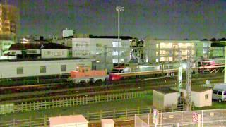 小田急ロマンスカー 7000形(LSE)+10000形(HiSE) 連結しての入換作業