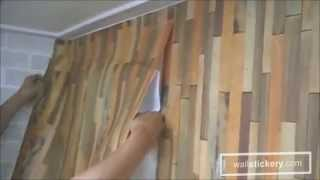 how to hang self adhesive wallpaper on walls by wallstickery.com