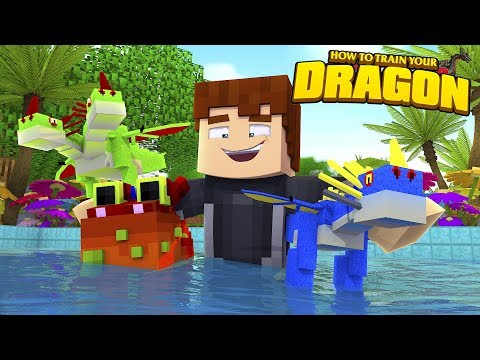 SCUBA STEVE STARTS HIS OWN NEW DRAGON NATION - HOW TO TRAIN YOUR DRAGON
