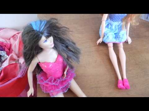Barbie and her children:Sweet dreams.