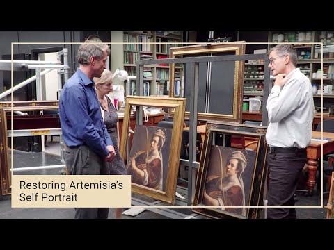 Choosing a frame | Restoring Artemisia Gentileschi's 'Self Portrait'