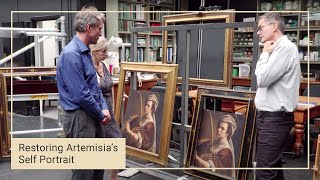 Choosing a frame | Restoring Artemisia Gentileschi