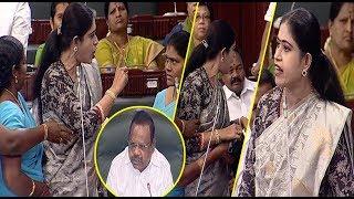 MLA Vijayadharani at Tamil Nadu Assembly today 12/06/2018|P. Dhanapal, mk stalin |STV