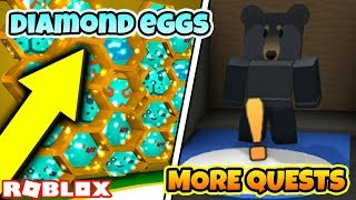 *NEW QUESTS* FREE DIAMOND EGGS!! UNLOCK ALL LEGENDARIES EASY! (Roblox Bee Swarm Simulator)