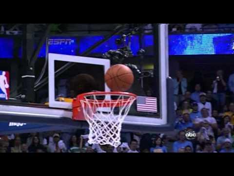 05 23 2009   WCF Game 3   Lakers vs  Nuggets   Dahntay Jones Dirty Foul On Kobe