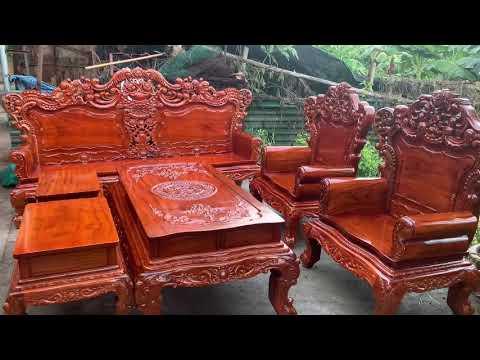 Đồ Gỗ Nội Thất Phương Trị  Bộ Bàn Ghế Hoàng Gia Louis Gỗ Lim Nam Phi