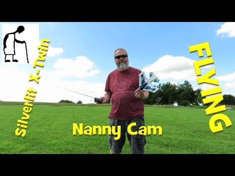 Silverlit X Twin Jet RC Plane - Flying - Nanny Cam