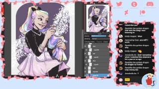 coloring another drawingwiffwaffles lineart