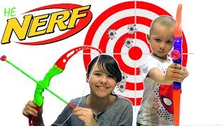 [REVIEW not NERF] Shooting Games! BOW (similar to Nerf). Toys for boys and girls