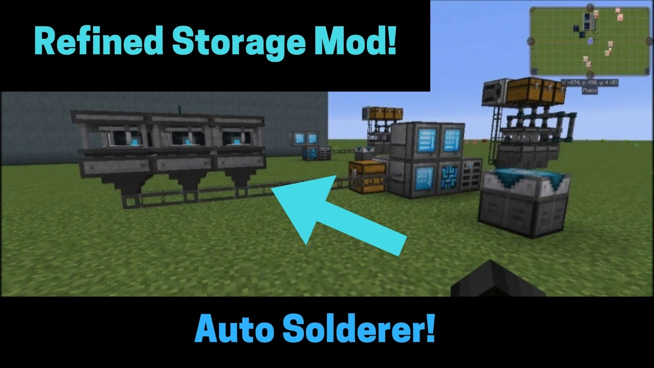 How to make an auto solderer with Refined Storage! UPDATED VERSION!