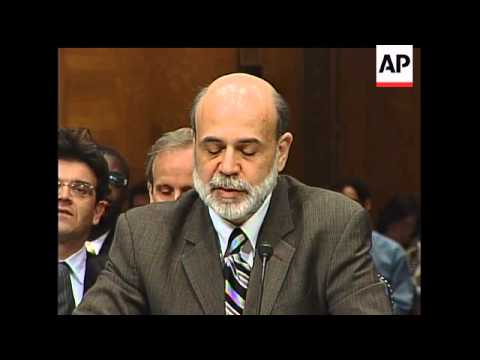 Federal Reserve Chairman Ben Bernanke warned Congress on Wednesday that the economy may shrink over