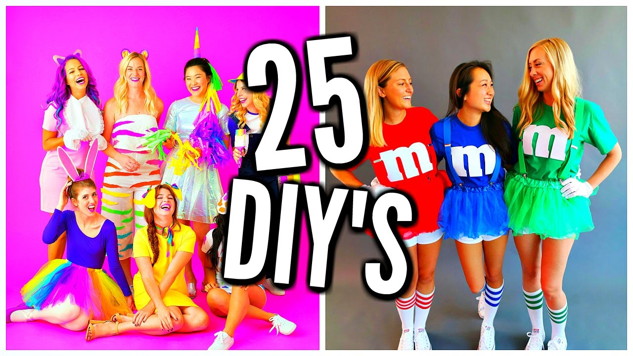25 diy halloween costume ideas costumes for groups couples youtube