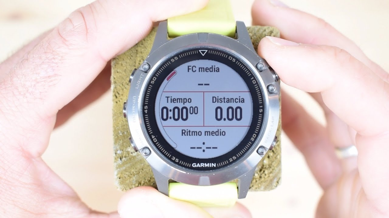 Review Garmin Fenix 5 Pantallas De Deportes 2 De 4 Youtube