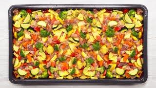 Вкусный ужин за 30 минут! Курица запеченная с овощами по-итальянски. Рецепт от Всегда Вкусно!