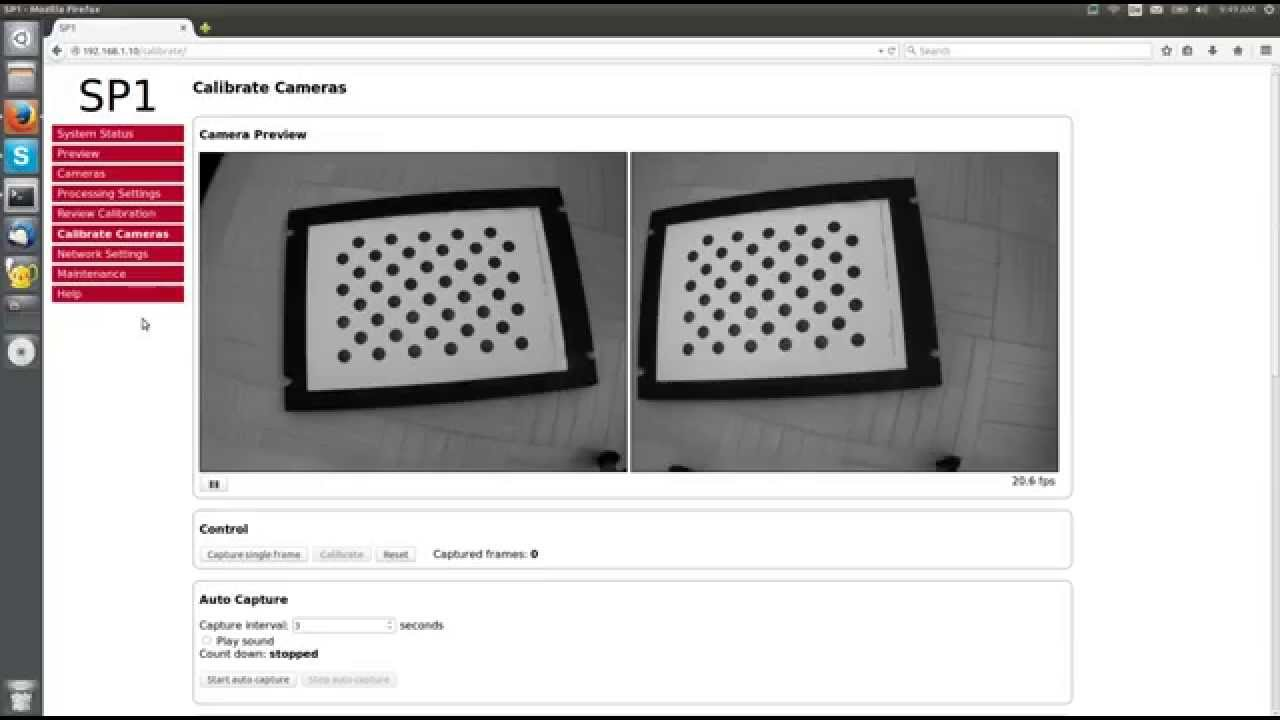 SP1 Stereo Camera Calibration Walkthrough