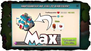 Neues Hauptquartier Level 22! | BOOM BEACH | HQ 22 Verbesserung! (Deutsch / German)
