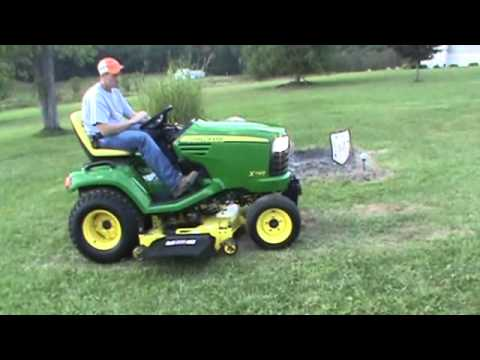 2011 John Deere X748 Lawn And Garden Tractor 4x4 Diesel For Sale