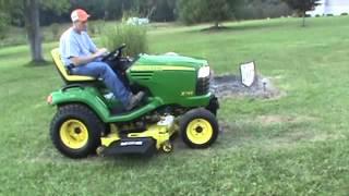2011 John Deere X748 Lawn And Garden Tractor 4x4 Diesel For Sale