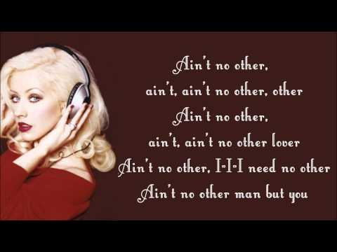 Christina Aguilera  Aint No Other Man Lyrics