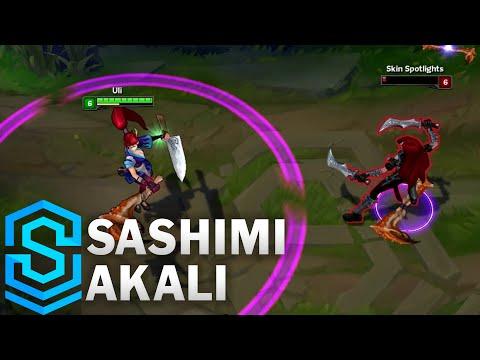 Sashimi Akali Skin Spotlight - League of Legends