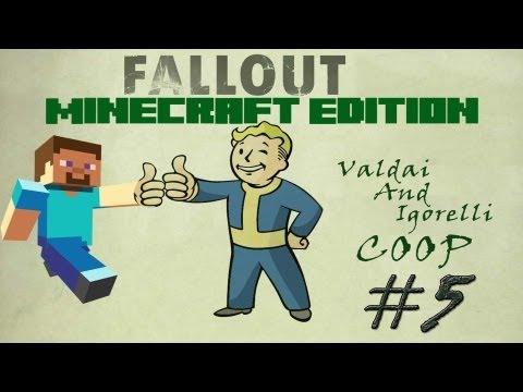 Смотреть прохождение игры [Coop] Minecraft Fallout Adventure. Серия 5 - То большое здание...
