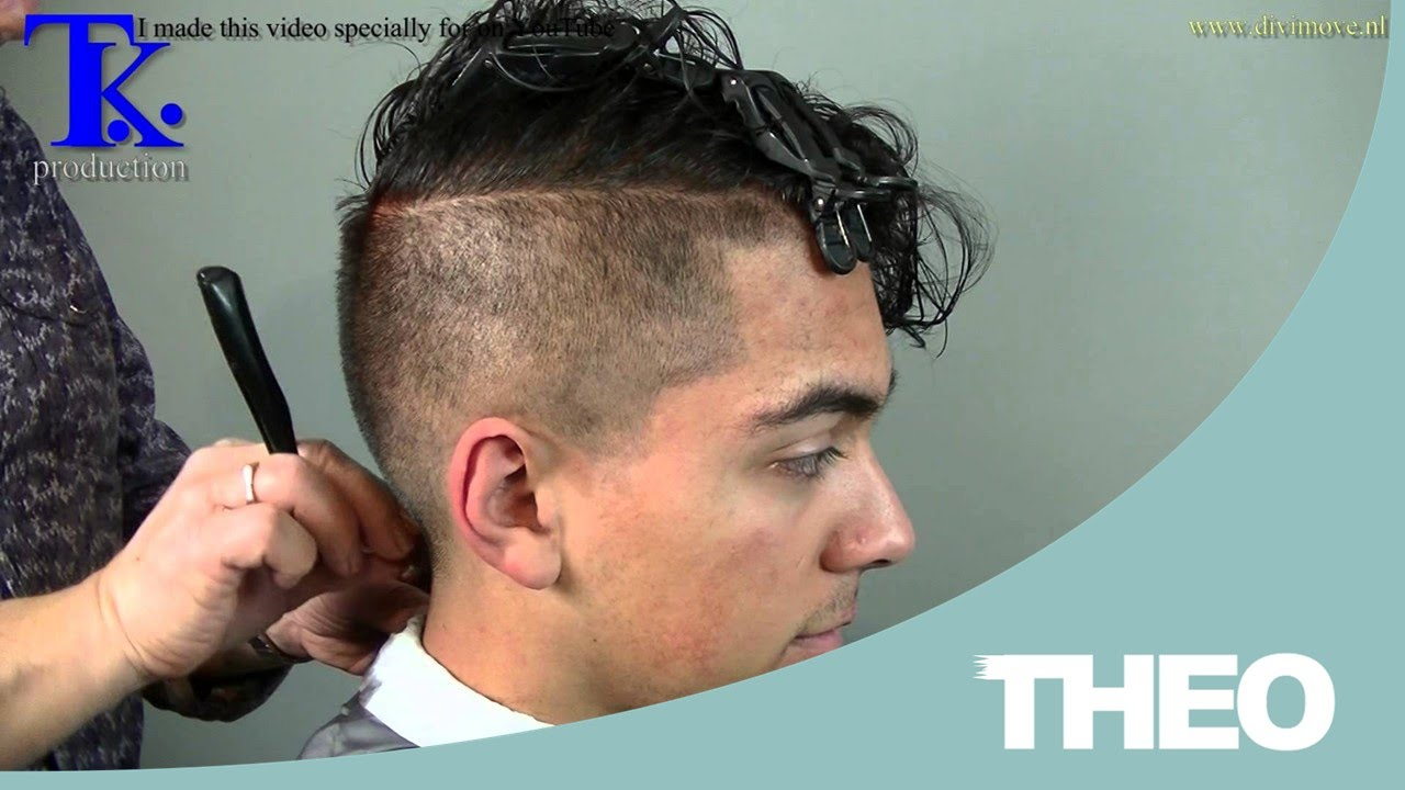 man's haircut sides shaved curly