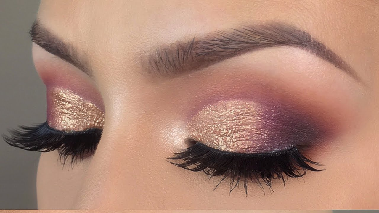 Purple Gold Cut Crease Makeup Tutorial