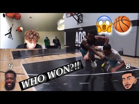 Cash vs Brawadis 1v1 Rivalry Basketball Game!!(Reaction)
