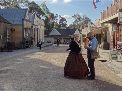 Ballarat Australia. Sovereign Hill. Amazing Old Town