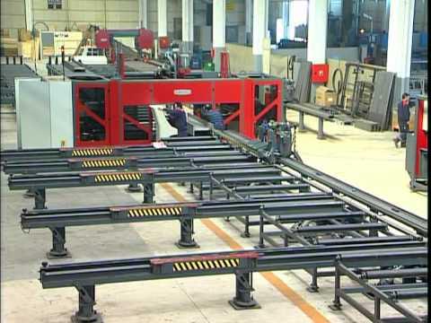 AKDRILL 3ADM 1200 CNC BEAM DRILLING LINE