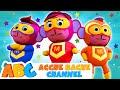 ABC Hindi | Superhero Finger Family | SUPERHERO VS MONSTER | Hindi Baby Songs | Acche Bache Channel