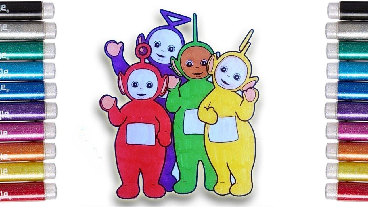 Coloring Teletubbies Mewarnai Teletubbies Dengan Spidol Untuk Anak